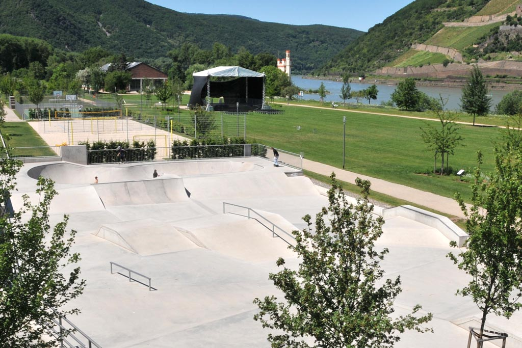 Skateranlage im Park am Mäuseturm 4