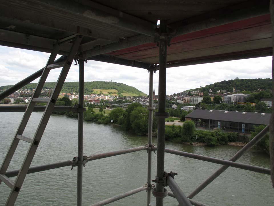 Blick vom Turm nach Bingen