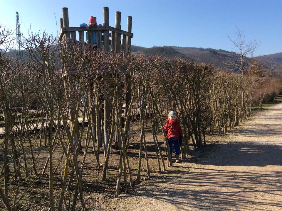 Labyrinth mit Kindern